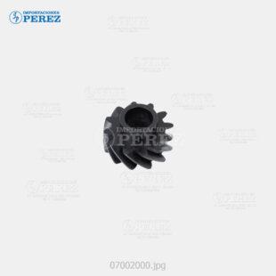 Gear 12T Negro (Reciclado Toner) Af- 1060 1075 2051 2060 2075  - Mp- 5500 6500 7500 6000 7000 8000 6001 7001 8001 9001 6002 7502 9002 6503 7503 9003  - Sp- 9100  - - - 0g - Unid. Imagen - Original - O - 007002000