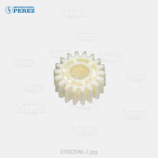 Gear 18T Crema (Bandeja Papel) Af- 1060 1075 2051 2060 2075 3260C C5560  - Ap- 900  - Mp- 5500 6500 7500 6000 7000 8000 6001 7001 8001 9001 6002 7502 9002 C6000 C7500 C6501 C7501  - Pro- C550Ex C700Ex - 007002046
