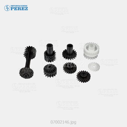 Gear (Kit) Negro (Revelado) Di- 152 183 1611 1811 2011 - Bizhub 162 163 180 210 220 - Kit x06 - 0g - Unid. Revelado - Compatible - Cet