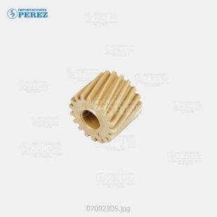 Gear 18T Caramelo (Fusor) Mp- C2051 C2551  - - - 0g - Unid. Fusora - Original - Original - Ricoh - 007002305