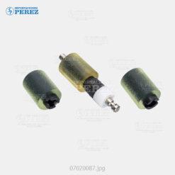 Rueda (Kit) Verde (Bandeja - Feed Pickup Roller Separation) Bizhub C203 C253 C353 - Kit x03 - 0g - Bloque Arrastre - Compatible - Cet - 007020087