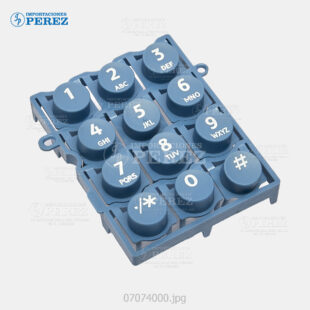 Tecla (10 KeyTop) Azul (Panel) Mp- 2550 3350 2851 3351 4000 5000 4001 5001 5500 6500 7500 6000 7000 8000 C6000 C7500  - Pro- C550Ex C700Ex  - - - 0g - Panel - Compatible - Dki - 007074000