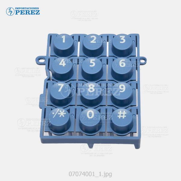 Tecla (10 KeyTop) Azul (Panel) Mp- 2550 3350 2851 3351 4000 5000 4001 5001 6000 7000 8000 C2000 C2500 C3000 C3001 C3501 C4501 C5501  - Pro- C550 C700 C6000 C7500 C550Ex C700Ex  - - - 0g - Panel - Orig - 007074001