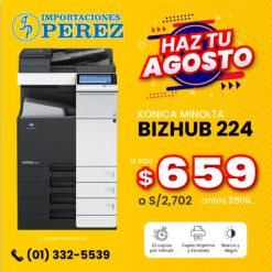 Fotocopiadora Konica Minolta Bizhub 224 - Importaciones Perez
