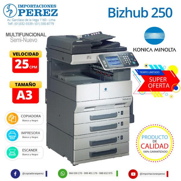 Fotocopiadora Konica Minolta Bizhub 250 - Importaciones Perez