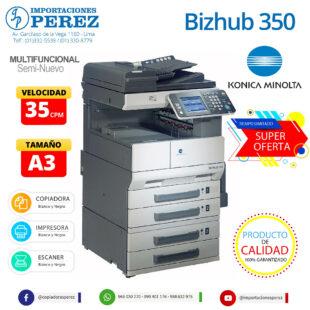 Fotocopiadora Konica Minolta Bizhub 350 - Importaciones Perez