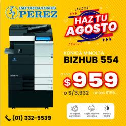 Fotocopiadora Konica Minolta Bizhub 554 - Importaciones Perez