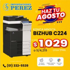 Fotocopiadora Konica Minolta Bizhub C224 - Importaciones Perez