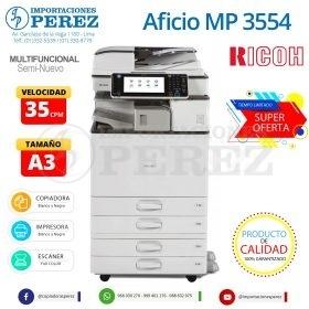 Fotocopiadora Ricoh Aficio MP 3554 - Importaciones Perez