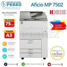 Fotocopiadora Ricoh Aficio MP 7502 - Importaciones Perez